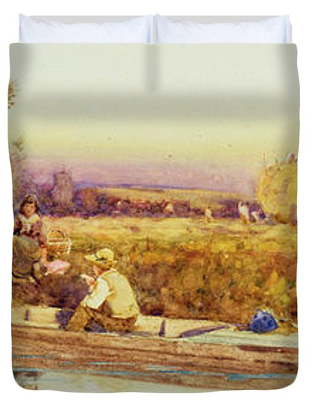 In The Punt Duvet Cover by Thomas James Lloyd