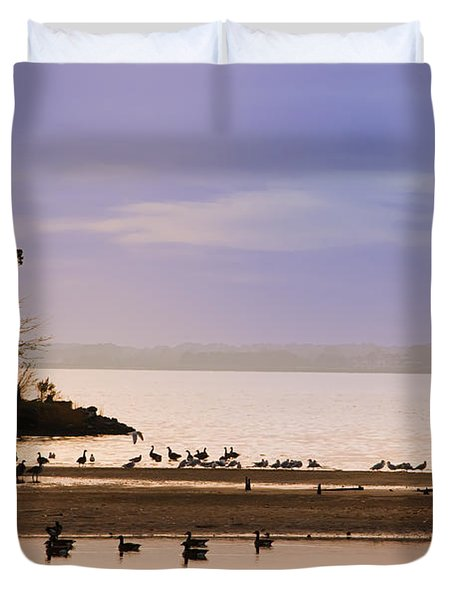 In The Quiet Morning Duvet Cover by Bill Cannon