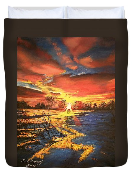 In The Still Of Dawn-2 Duvet Cover