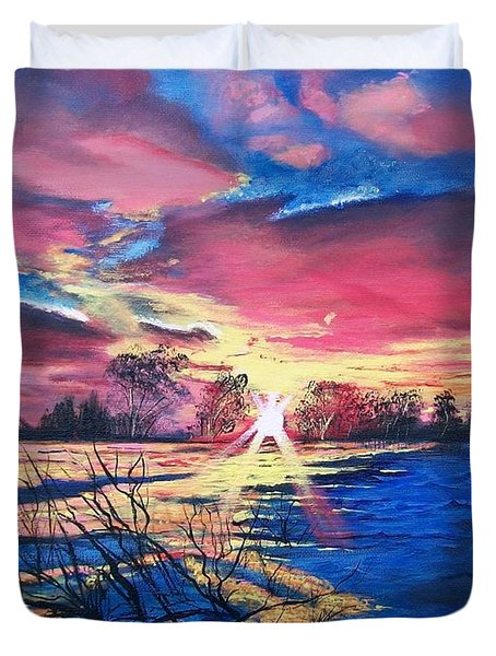 In The Still Of Dawn  Duvet Cover