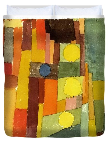 In The Style Of Kairouan Duvet Cover by Paul Klee