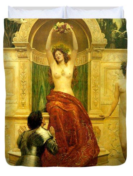 In The Venusberg Tannhauser Duvet Cover by John Collier