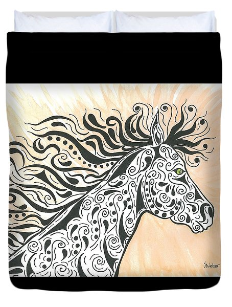 In The Wind Duvet Cover