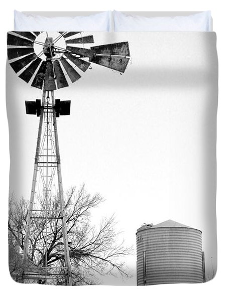 In The Windmills Of Your Mind Duvet Cover by Kathy  White