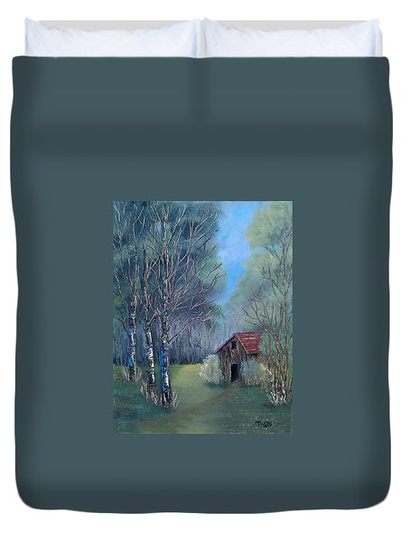In The Woods Duvet Cover by Suzanne Theis