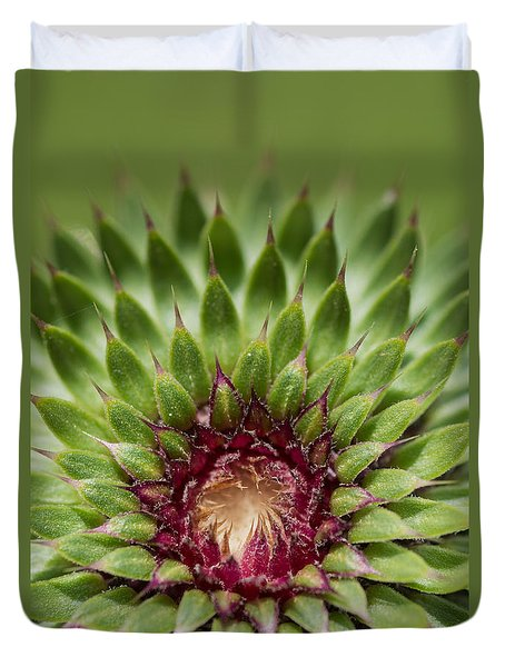 Duvet Cover featuring the photograph In Thistle's Heart by Simona Ghidini