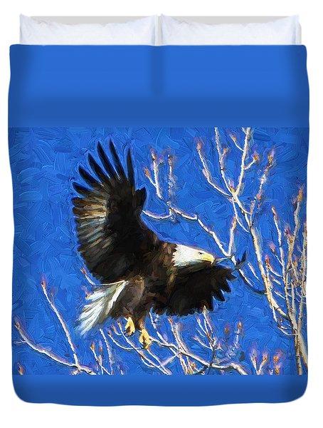 Inbound Eagle Duvet Cover by John Freidenberg