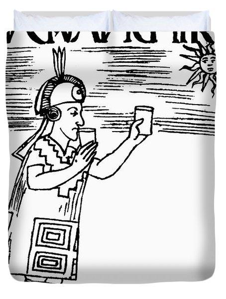 Inca Sun Worship Duvet Cover