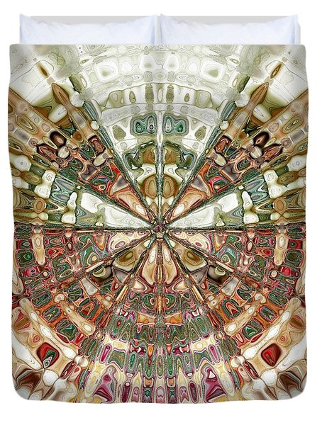 Incan Abstraction Duvet Cover by Amanda Moore