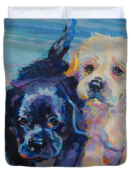 Incoming Duvet Cover by Kimberly Santini