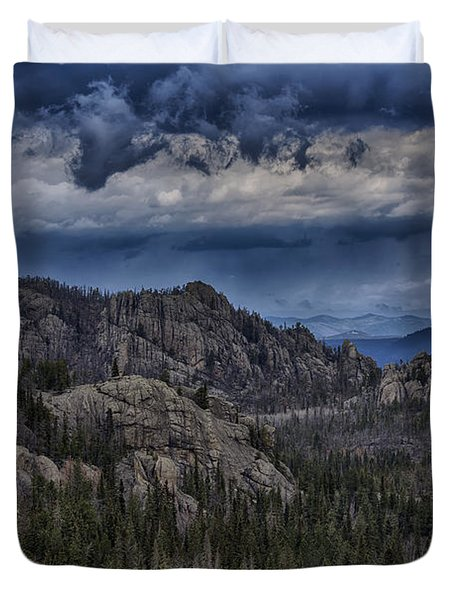 Incoming Storm Over The Black Hills Of South Dakota Duvet Cover
