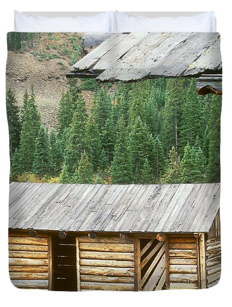 Independence Ghost Town Duvet Cover by David Davis