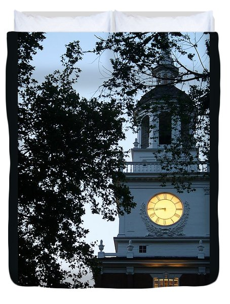 Independence Hall At Dusk Duvet Cover