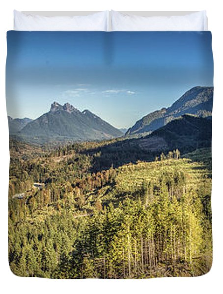 Index Mountains Panorama Duvet Cover