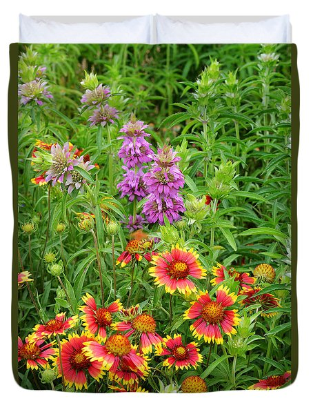 Indian Blankets And Lemon Horsemint Duvet Cover
