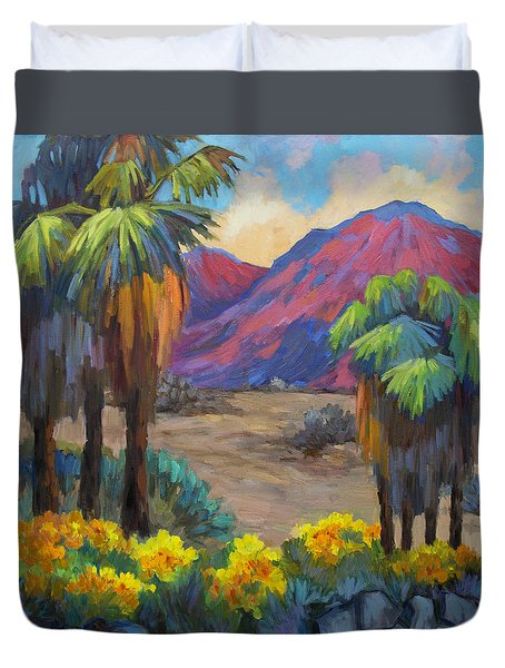 Indian Canyon In Spring Duvet Cover