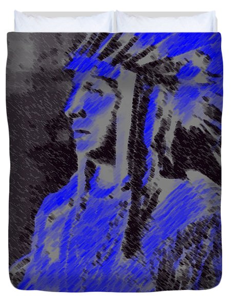 Indian Chief Duvet Cover by George Pedro
