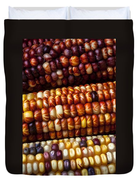 Indian Corn Harvest Time Duvet Cover