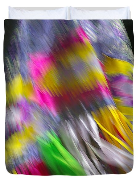 Duvet Cover featuring the photograph Indian Dance by Randy Pollard