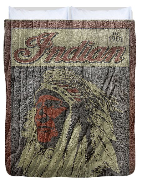 Indian Motorcycle Postertextured Duvet Cover