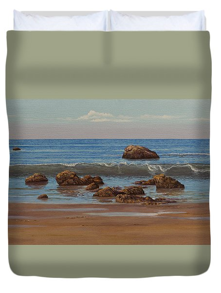 Indian Ocean. Gokarna. Kudlee Beach Duvet Cover