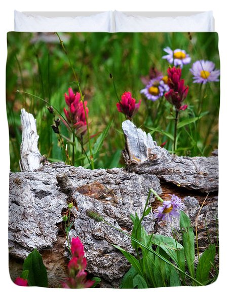 Duvet Cover featuring the photograph Indian Paintbrush by Ronda Kimbrow