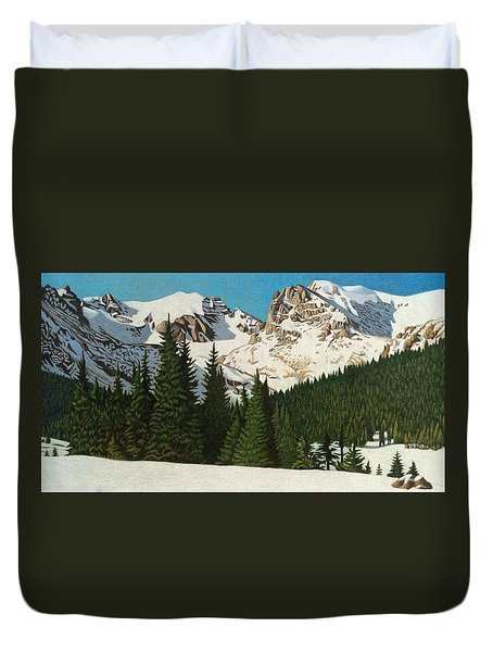 Indian Peaks Winter Duvet Cover