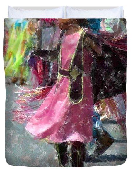 Indian Princess Dancer Duvet Cover by Kathleen Struckle