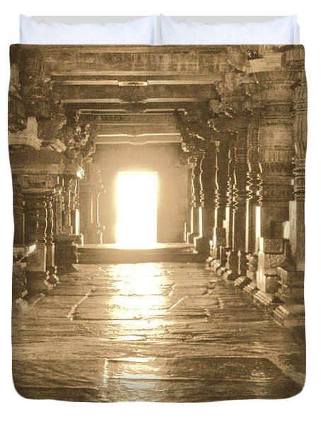 Duvet Cover featuring the photograph Indian Temple by Mini Arora