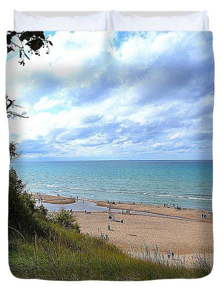 Indiana Dunes Beachscape Duvet Cover