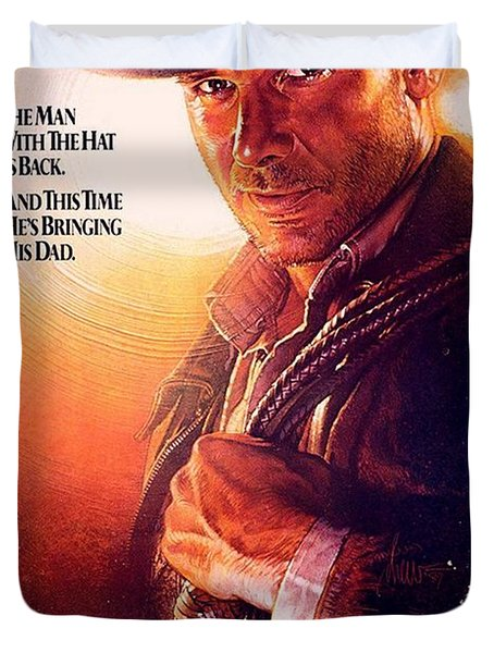 Indiana Jones And The Last Crusade  Duvet Cover by Movie Poster Prints