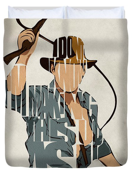 Indiana Jones - Harrison Ford Duvet Cover