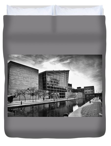 Indiana State Museum Duvet Cover by David Haskett