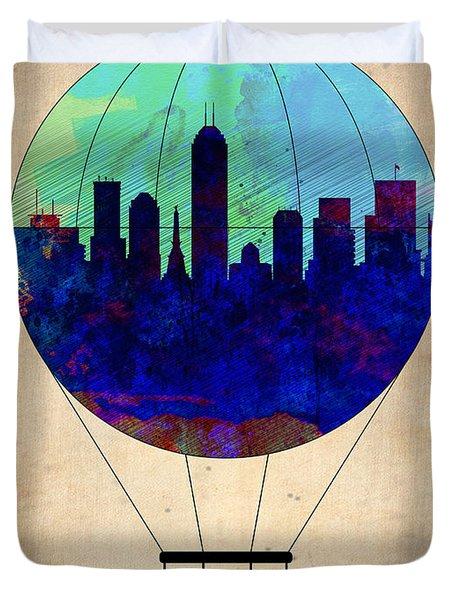 Indianapolis Air Balloon Duvet Cover
