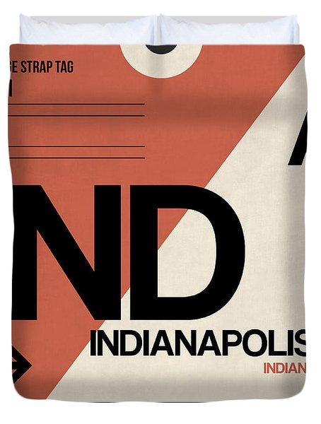 Indianapolis Airport Poster 1 Duvet Cover
