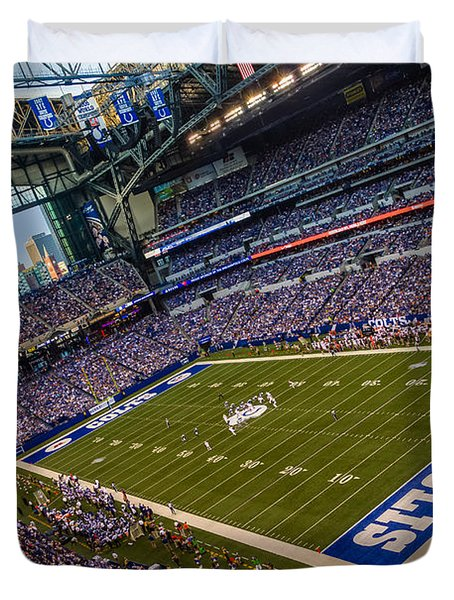 Indianapolis And The Colts Duvet Cover