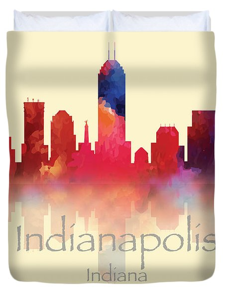 Indianapolis Indiana Skyline II Duvet Cover by Loretta Luglio
