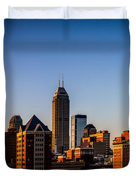 Indianapolis Skyline - South Duvet Cover