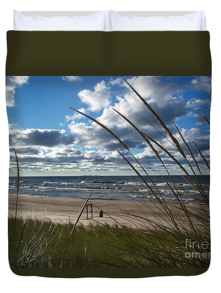 Indiana Dunes' Lake Michigan Duvet Cover