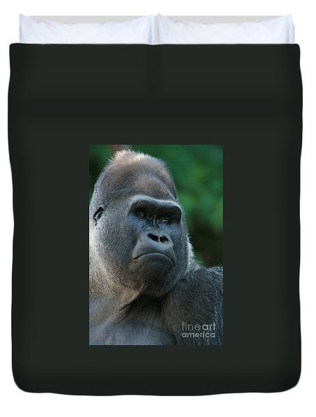 Duvet Cover featuring the photograph Indifference by Judy Whitton