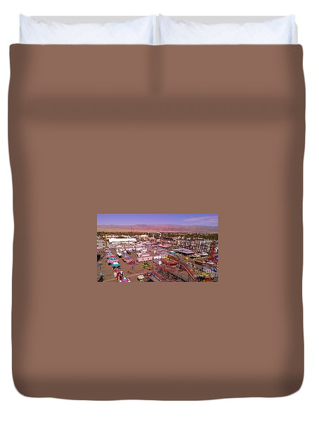 Indio Fair Grounds Duvet Cover by Chris Tarpening