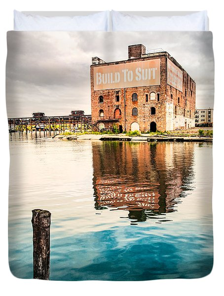 Industrial - Old Buildings - Build To Suit Duvet Cover by Gary Heller