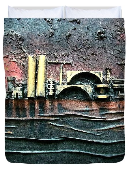 Industrial Port-part 2 By Rafi Talby Duvet Cover by Rafi Talby