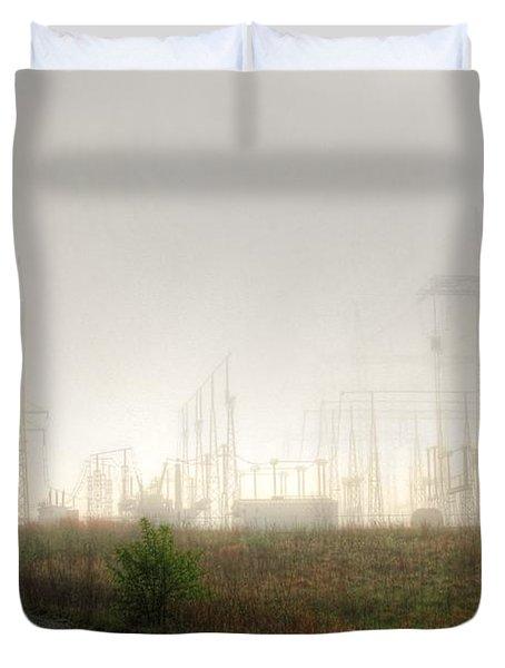 Industrial Skeleton Duvet Cover by Dan Stone