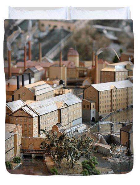 Industrial Town Miniature Model Duvet Cover