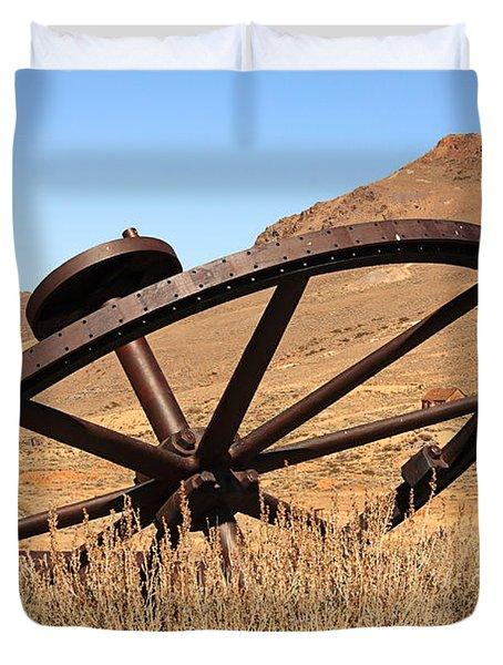 Industrial Wheel Duvet Cover