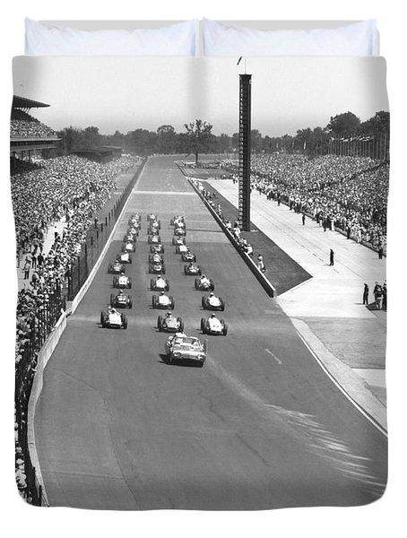 Indy 500 Parade Lap Duvet Cover