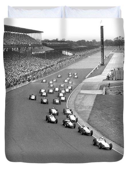 Indy 500 Race Start Duvet Cover
