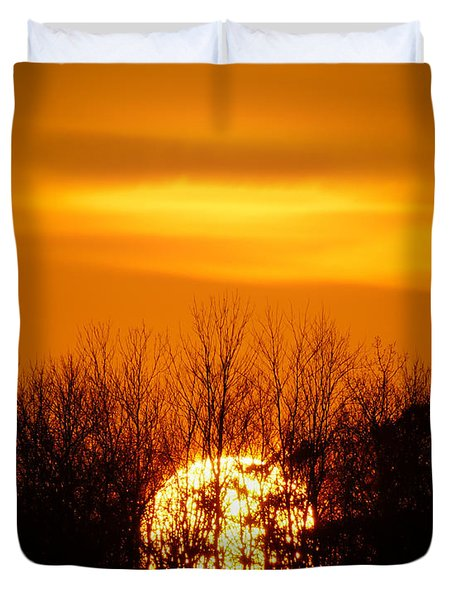Inferno In The Trees Duvet Cover