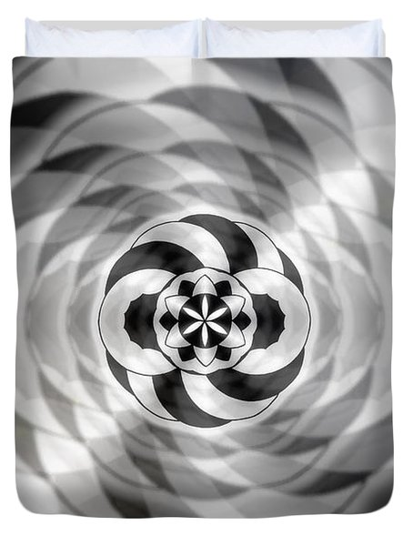 Duvet Cover featuring the drawing Infinity Bonded by Derek Gedney